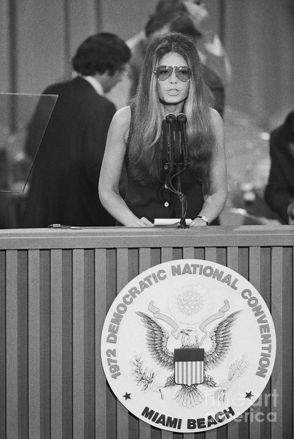 Gloria Steinem At Democratic Convention Photograph by Bettmann
