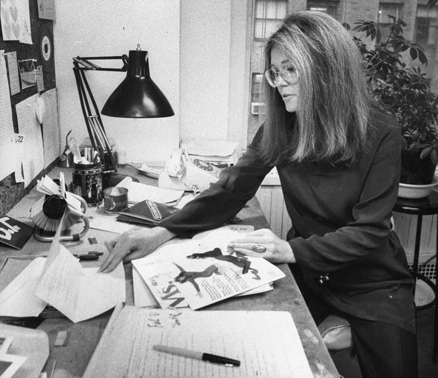 Gloria Steinem, Feminist Leader And Photograph by New York Daily News Archive