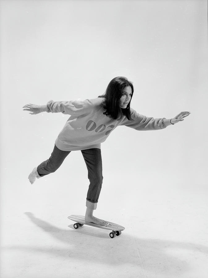Gloria Steinem On A Skateboard Photograph by Yale Joel