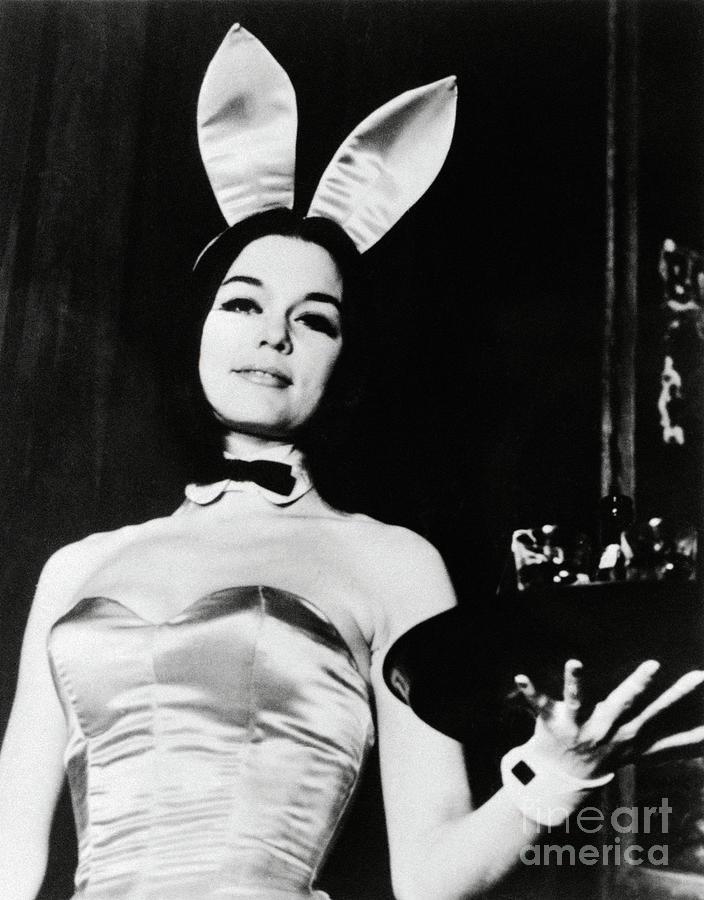 Gloria Steinem Wearing Playboy Bunny Photograph by Bettmann