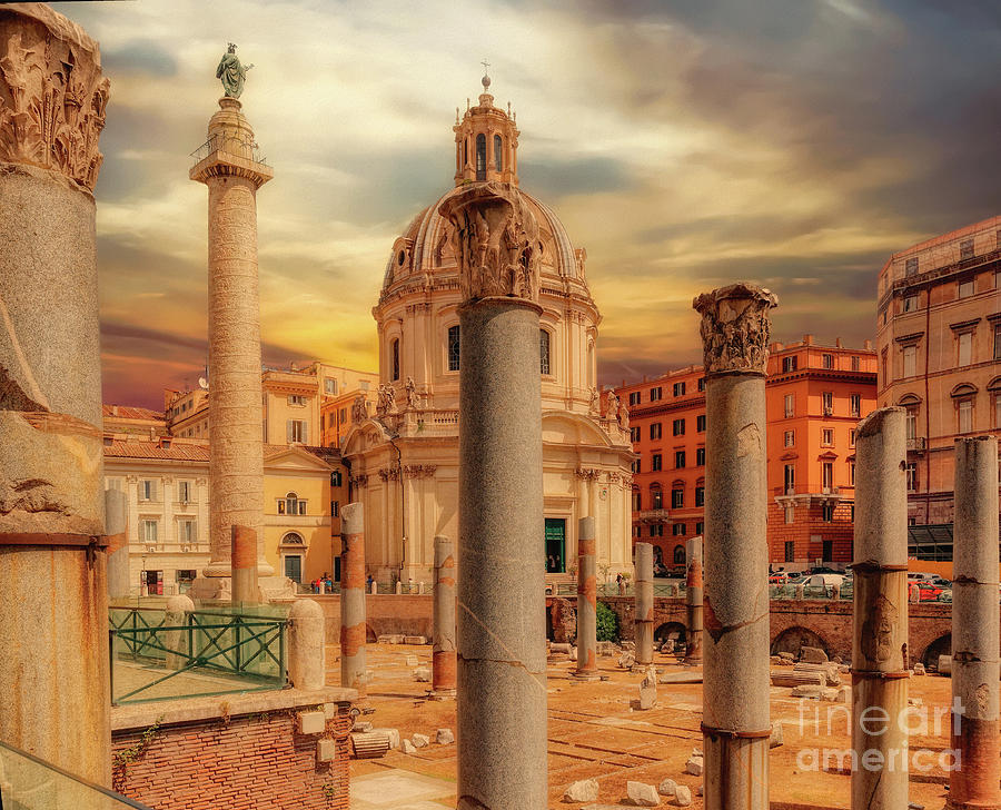 Rome Photograph - Glories Past And Present,  Rome by Leigh Kemp