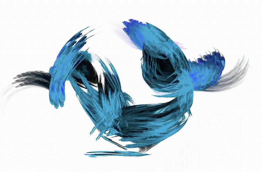 Glory Blue Digital Art
