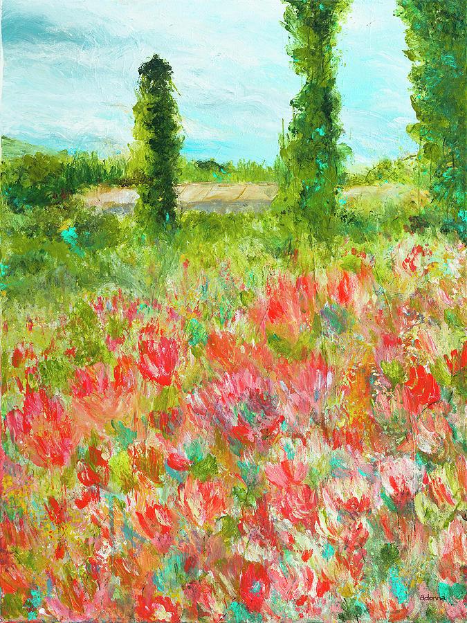 Garden Mixed Media - Glory in The Garden by Adonna Ebrahimi