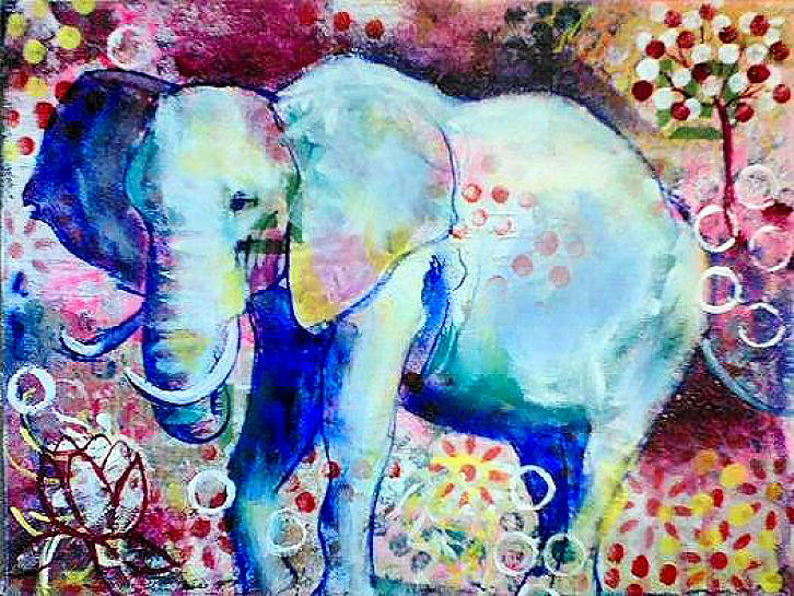 Elephant Painting - Glory by Goddess Rockstar