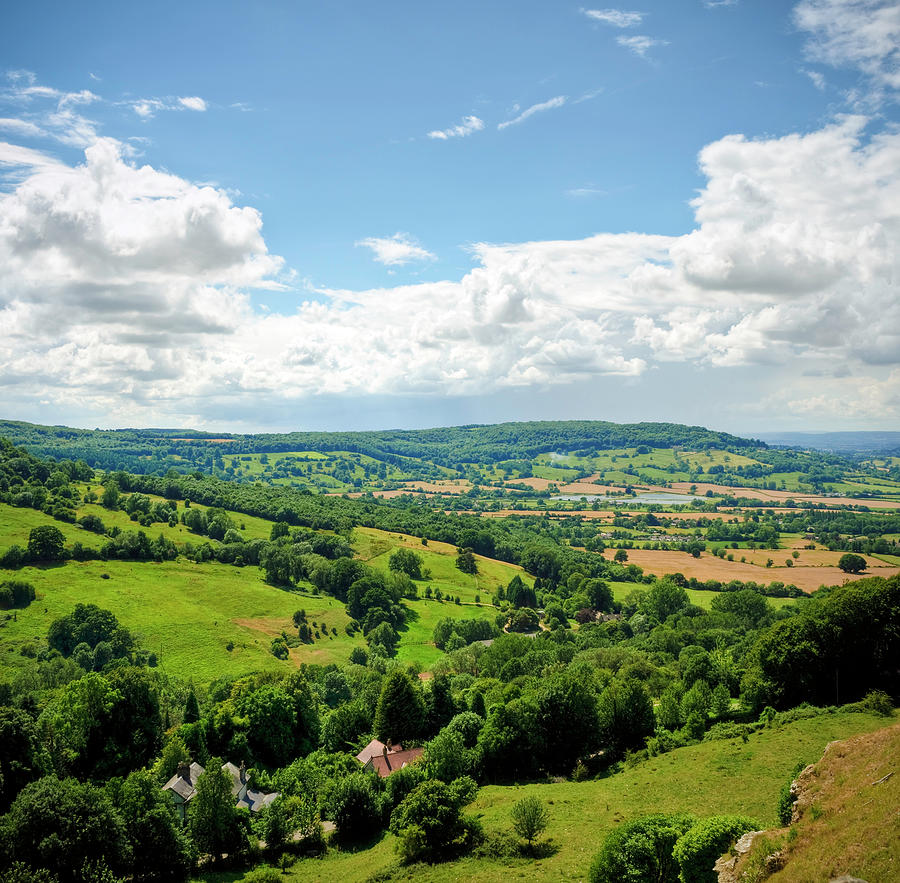 Gloucestershire Countryside View In Photograph by Fotomonkee