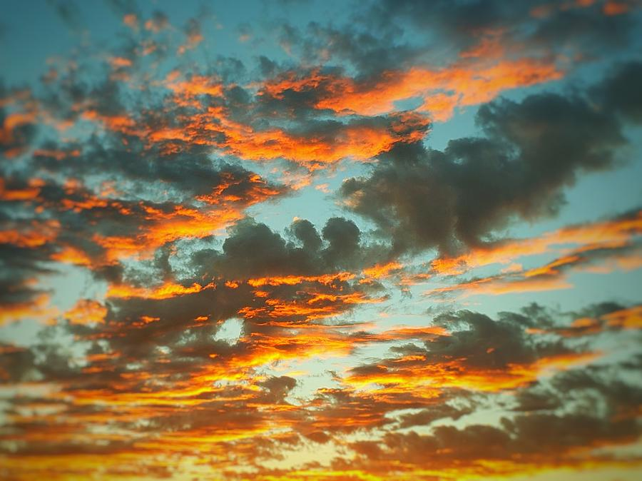 glowing clouds at sunset photograph by sarah bard glowing clouds at sunset by sarah bard