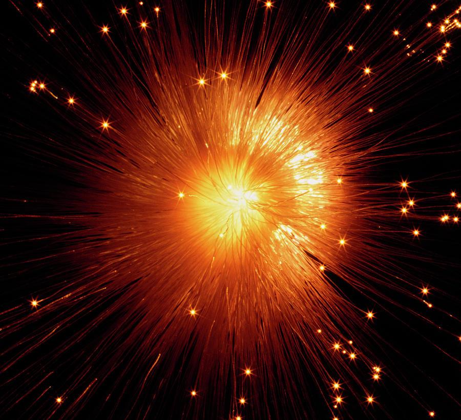 Glowing Fibre Optics Photograph by Gandee Vasan