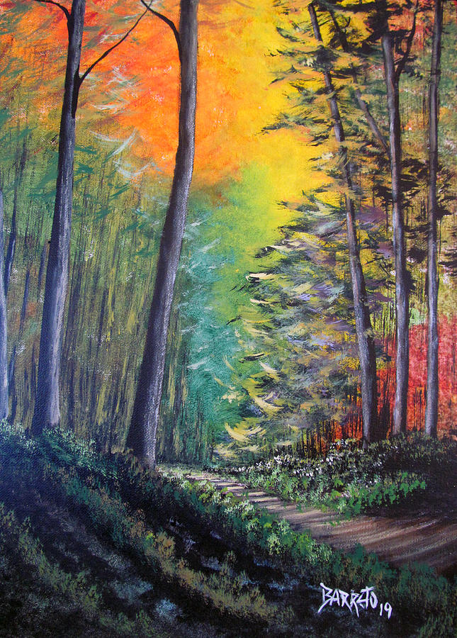 Glowing Forrest by Gloria E Barreto-Rodriguez
