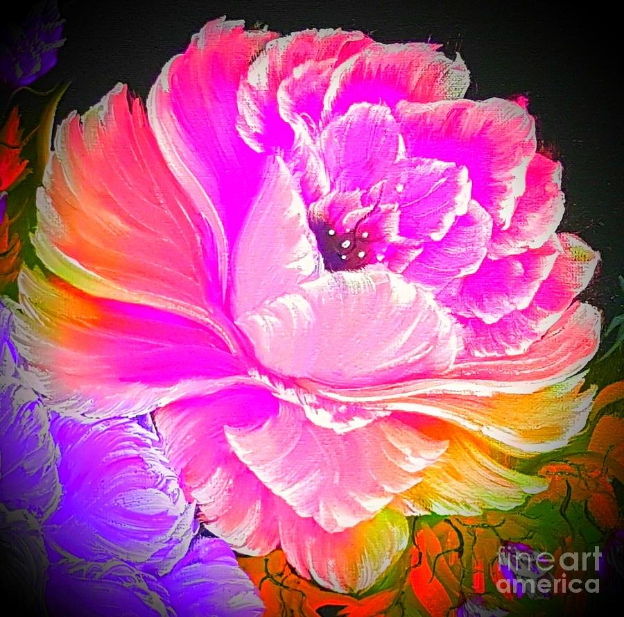 Pink Painting - Glowing Brighter Gorgeous Rose Pink  by Angela Whitehouse