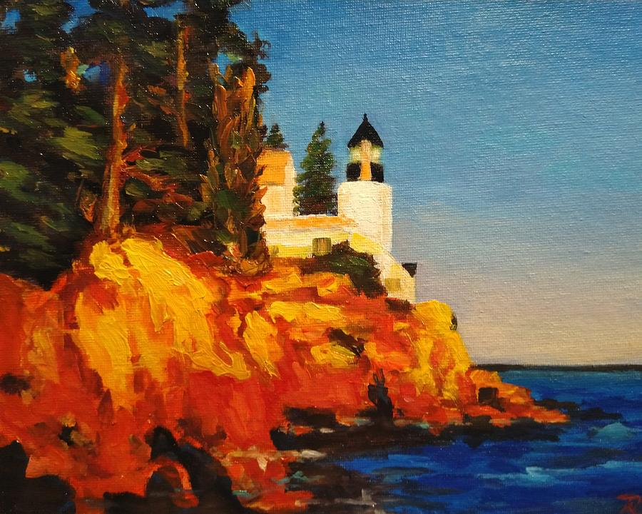 Glowing light house by Ray Khalife