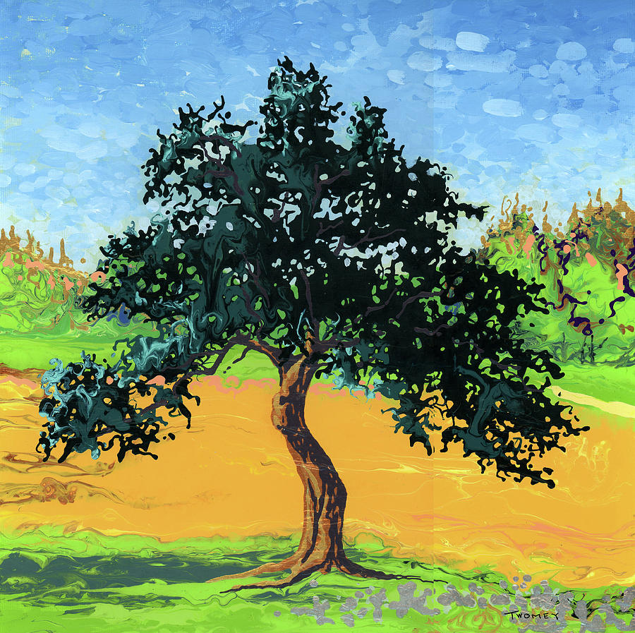 Landscape Painting - Gnarly Apple Tree, Vermont by Catherine Twomey