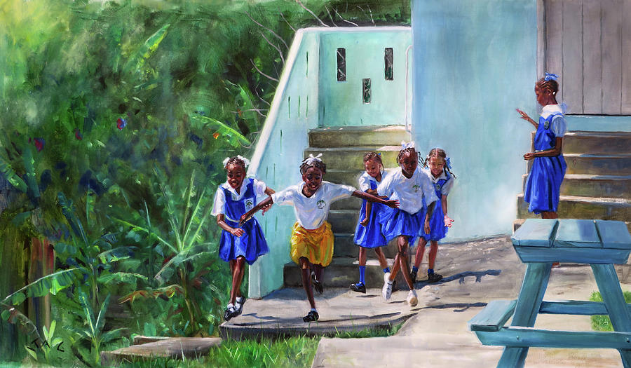 Saint Lucia Painting - Go by Jonathan Guy-Gladding JAG