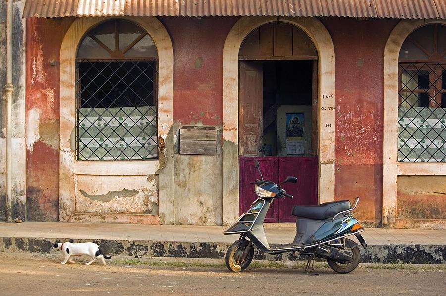 Goa, Panaji, Fontainhas Area, House Photograph by Walter Bibikow