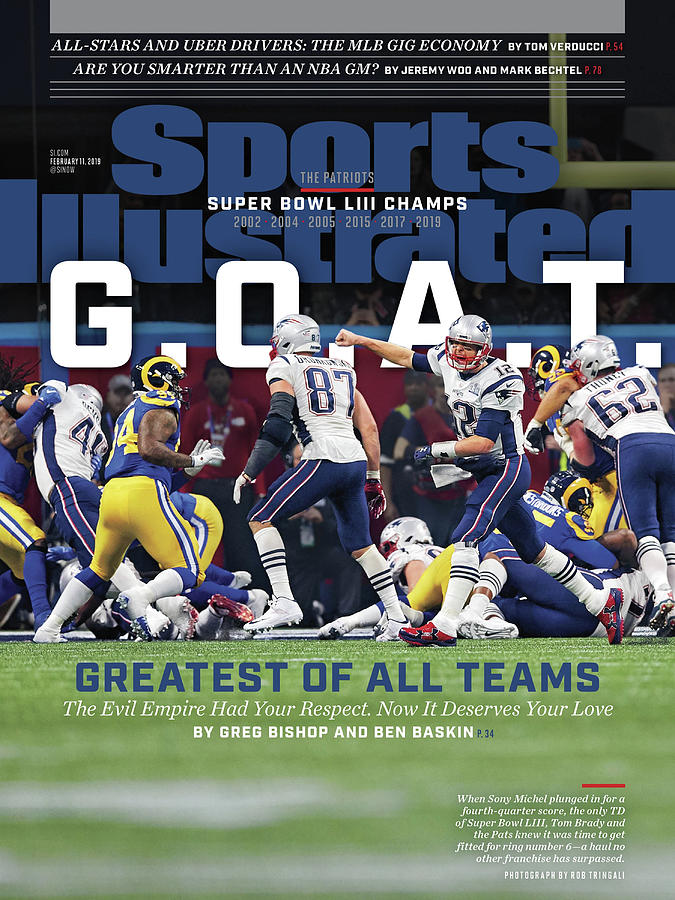 Atlanta Photograph - G.o.a.t Greatest Of All Teams Sports Illustrated Cover by Sports Illustrated