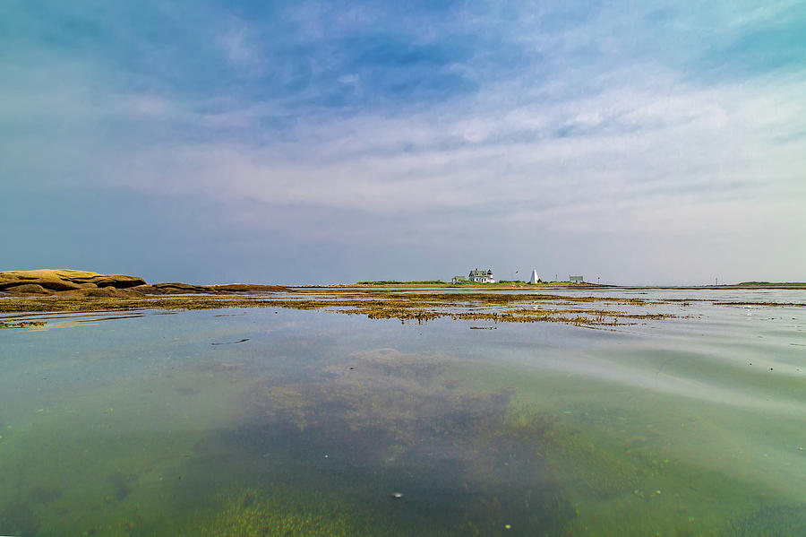 Lighthouse Photograph - Goat Island Distant View Maine by Betsy Knapp
