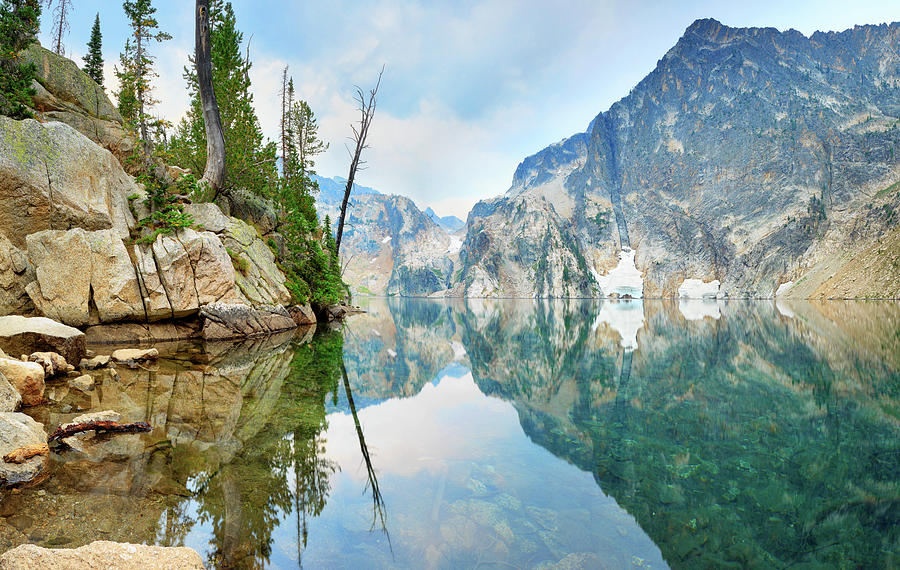 Goat Lake On Cloudy Day In Sawtooth Photograph by Anna Gorin