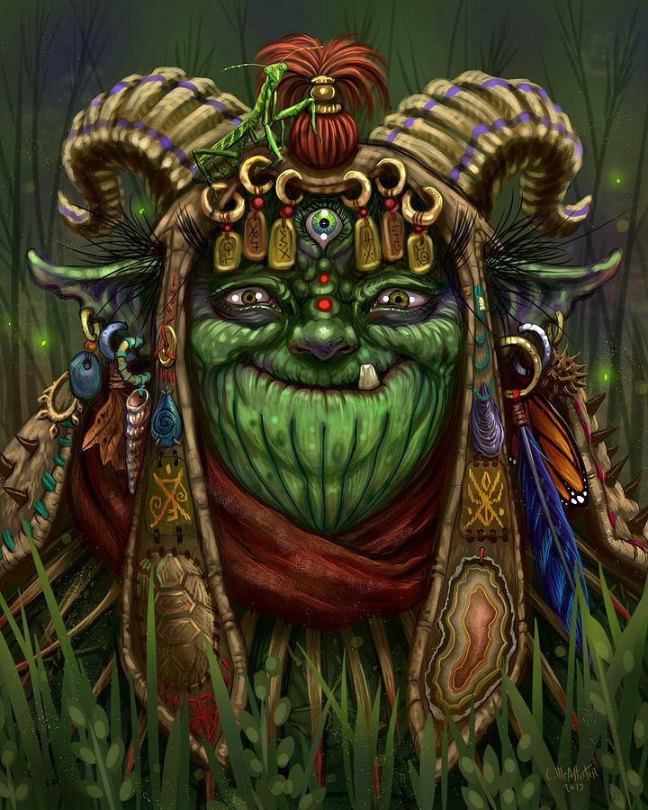 Goblin Gatherer by Cristina McAllister