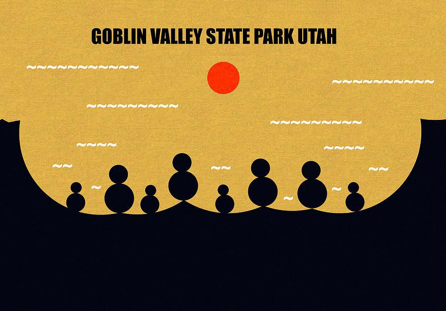 Landscape Digital Art - Goblin Valley Sate Park Utah by David Lee Thompson
