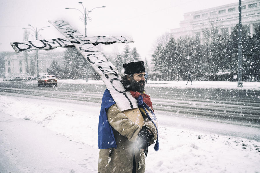 Resist Photograph - God Is With Us by Sorin Vidis