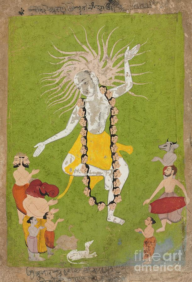 God Shiva In His Ferocious Aspect Drawing by Heritage Images