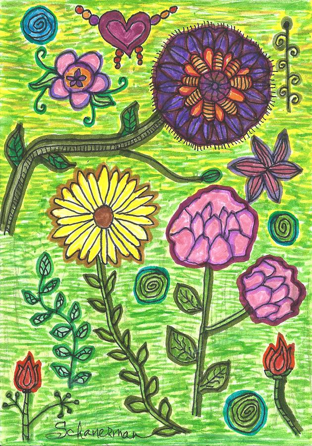 God Speaks To Us As Flowers by Susan Schanerman