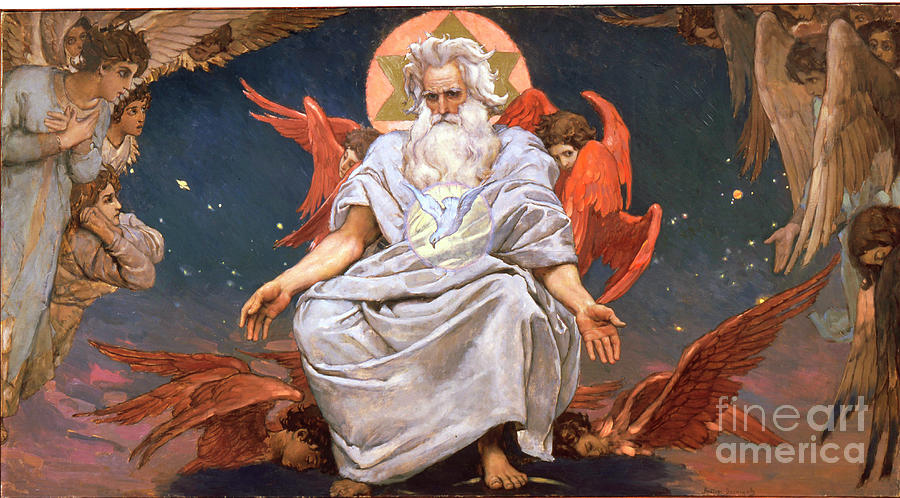 God The Father, 1885-1896. Artist Drawing by Heritage Images
