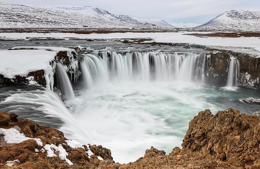 Joan Carroll Photograph - Godafoss Waterfall Iceland by Joan Carroll