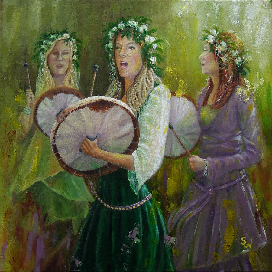 Goddess Drummers by Shirley Wellstead