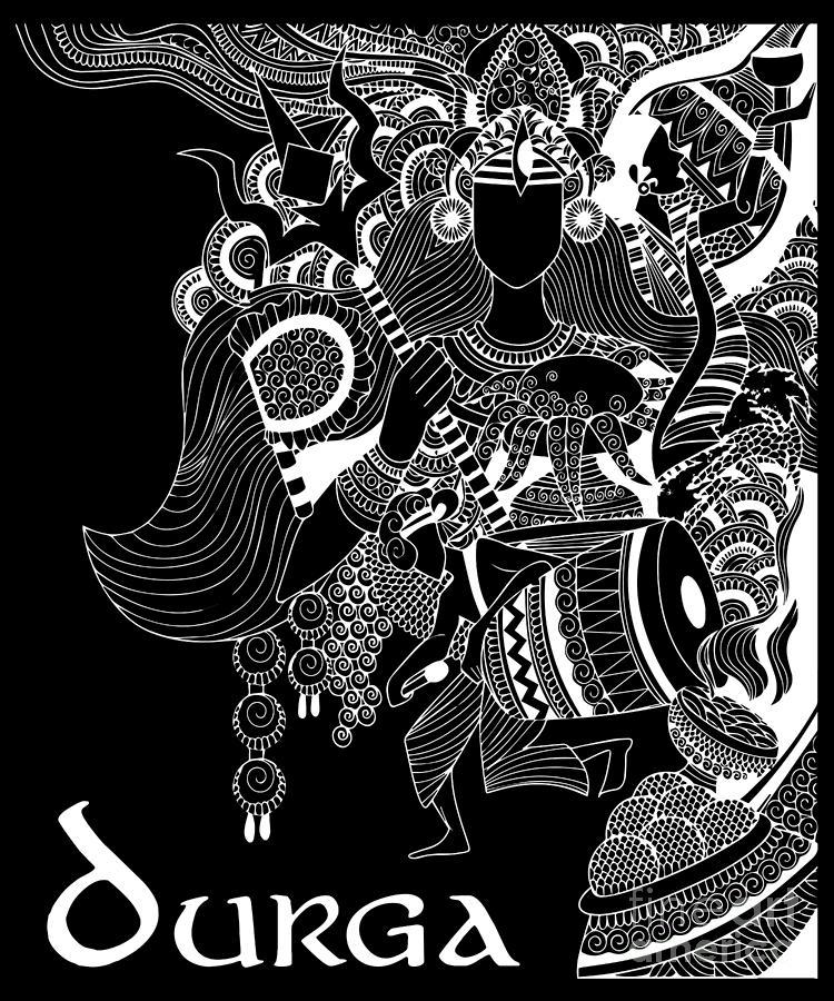 Goddess Durga Design Hinduism Gift For Believers In Hindu Gods And Deities