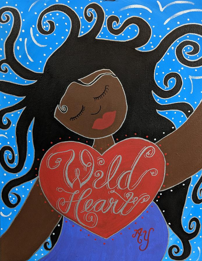 Holy Painting - Goddess of Wild Hearts by Angela Yarber