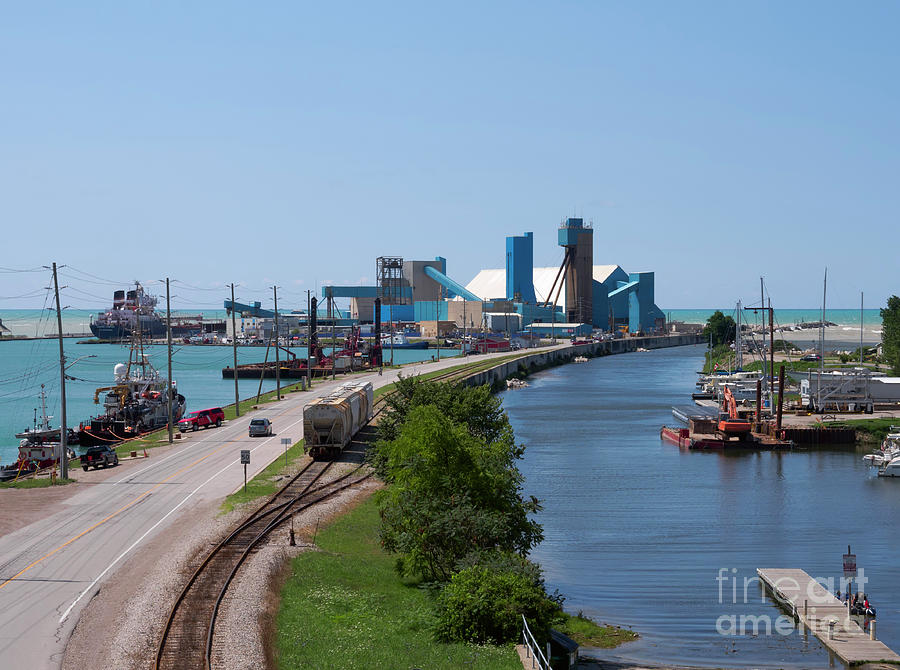 Salt Mine Photograph - Goderich Harbour And Maitland Valley Marina by Louise Heusinkveld