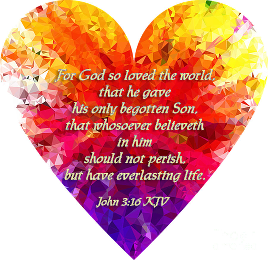Love Digital Art - Gods Heart by SGLY Ministry