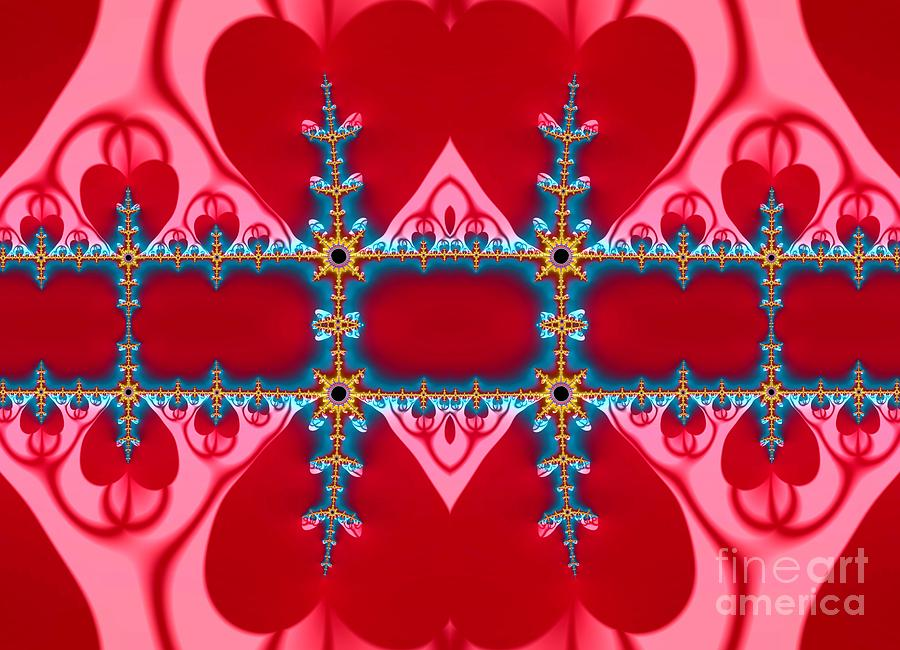 Gods Love and Mercy is Infinite Fractal Abstract Hearts by Rose Santuci-Sofranko