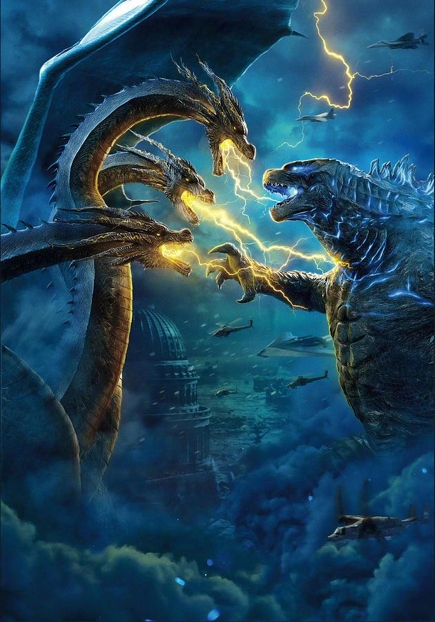Movie Digital Art - Godzilla II Rei Dos Monstros by Geek N Rock