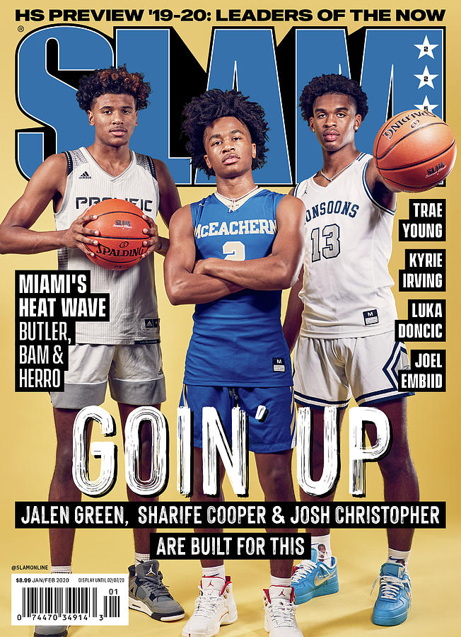 Goin Up: Jalen Green, Sharife Cooper & Josh Christopher are built for this SLAM Cover Photograph by Jon Lopez