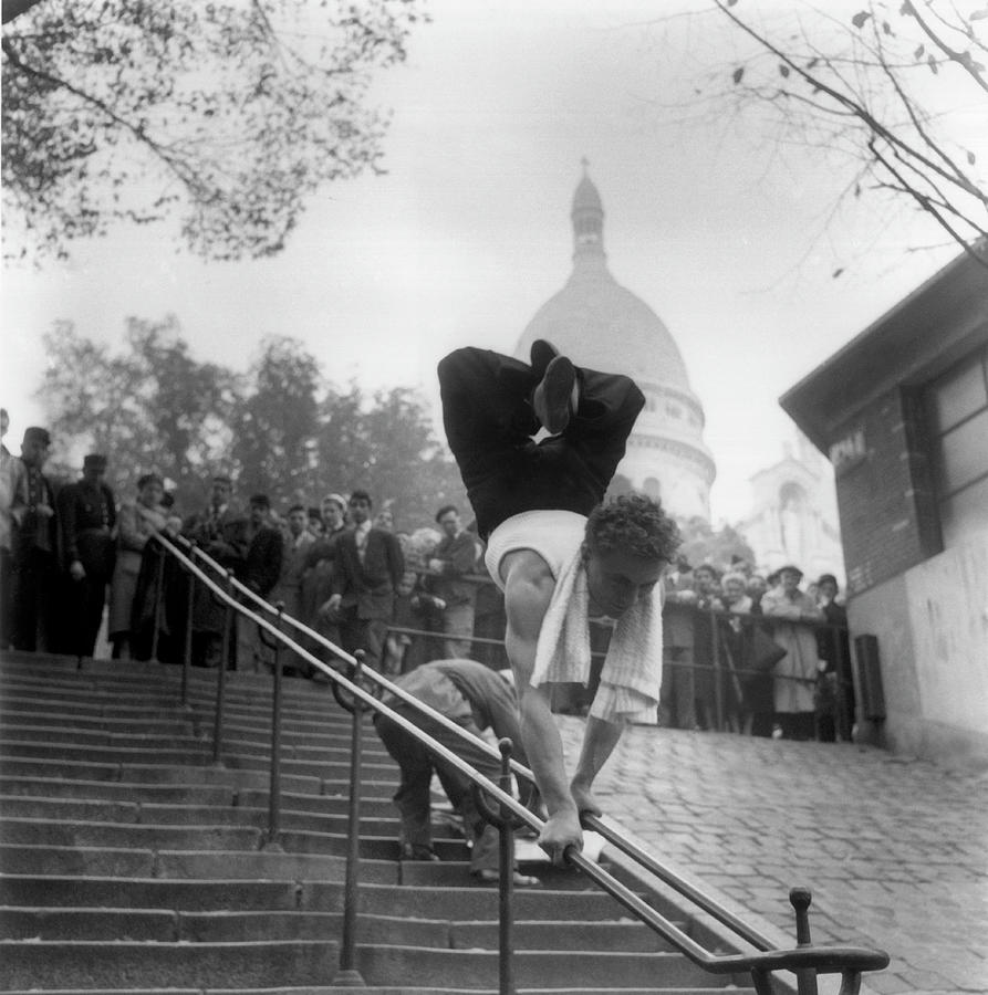 Going Down The Ramp At Montmartre By Photograph by Keystone-france