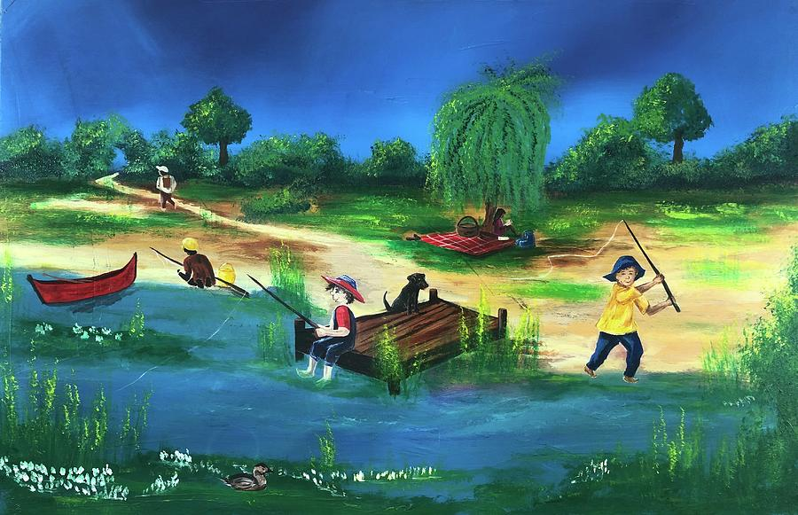 Fishing by Mary Rimmell