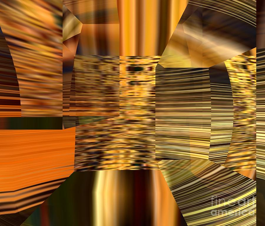 Abstract Digital Art - Gold  by A z Mami