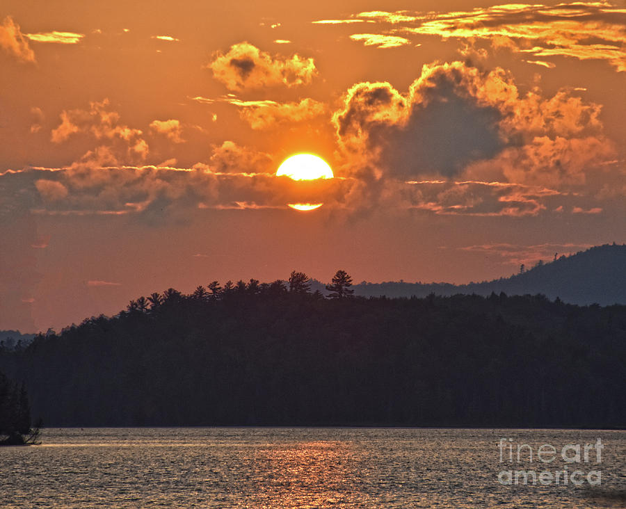 Gold and gray Sunset by Christine Dekkers