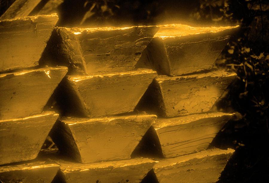 Gold Bullion Bars Photograph by Lyle Leduc