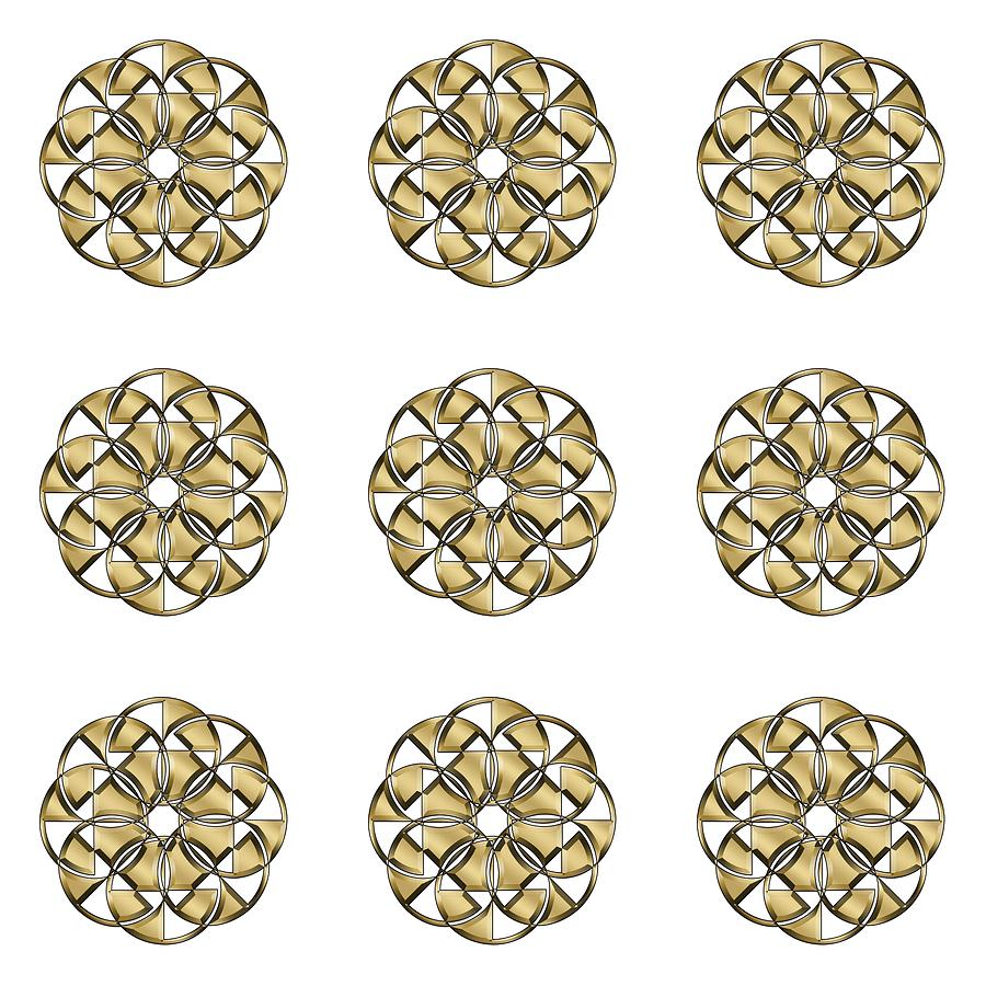 Gold Circles 1 by Chuck Staley