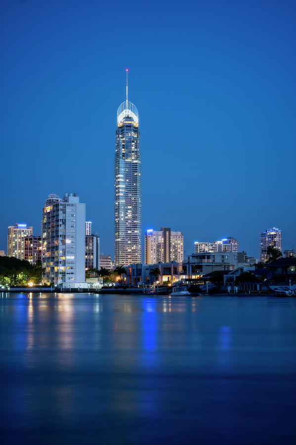Gold Coast Skyline At Night by Catherine Reading