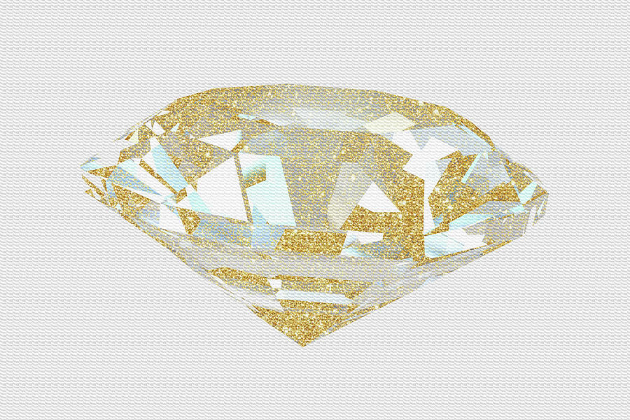 Jewels Mixed Media - Gold Diamond 1 by Natasha Wescoat