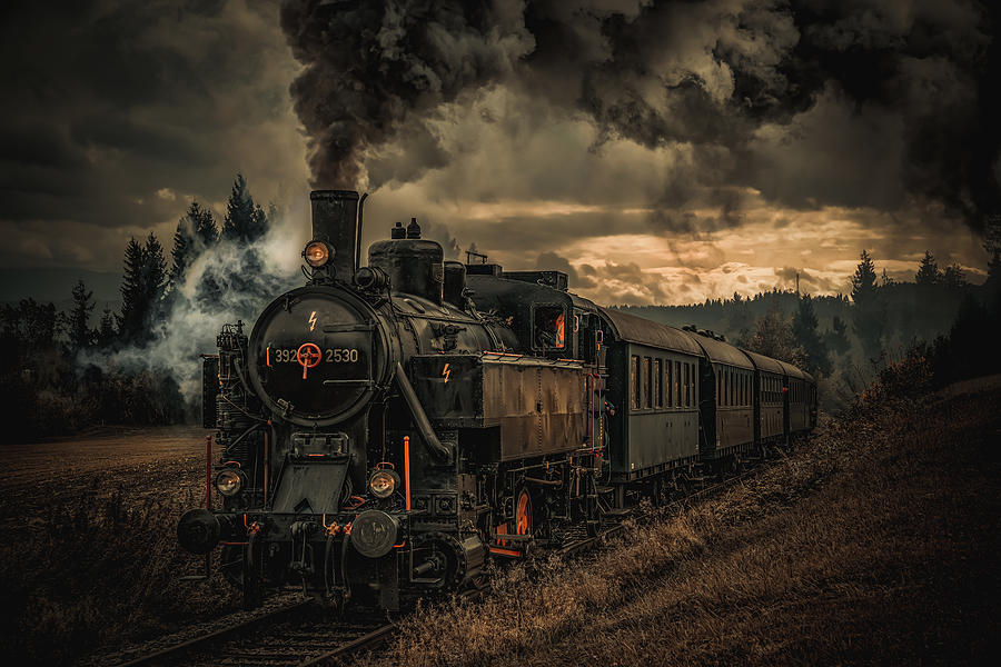 Creative Edit Photograph - Gold Digger Train by Hubert Bichler