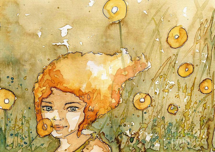 gold flowers  by Katarzyna Bruniewska-Gierczak