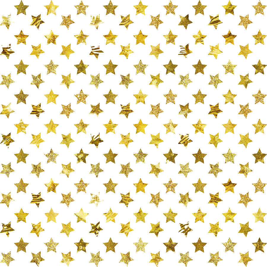 picture relating to Stars Printable called Gold Glitter Foil Superstars