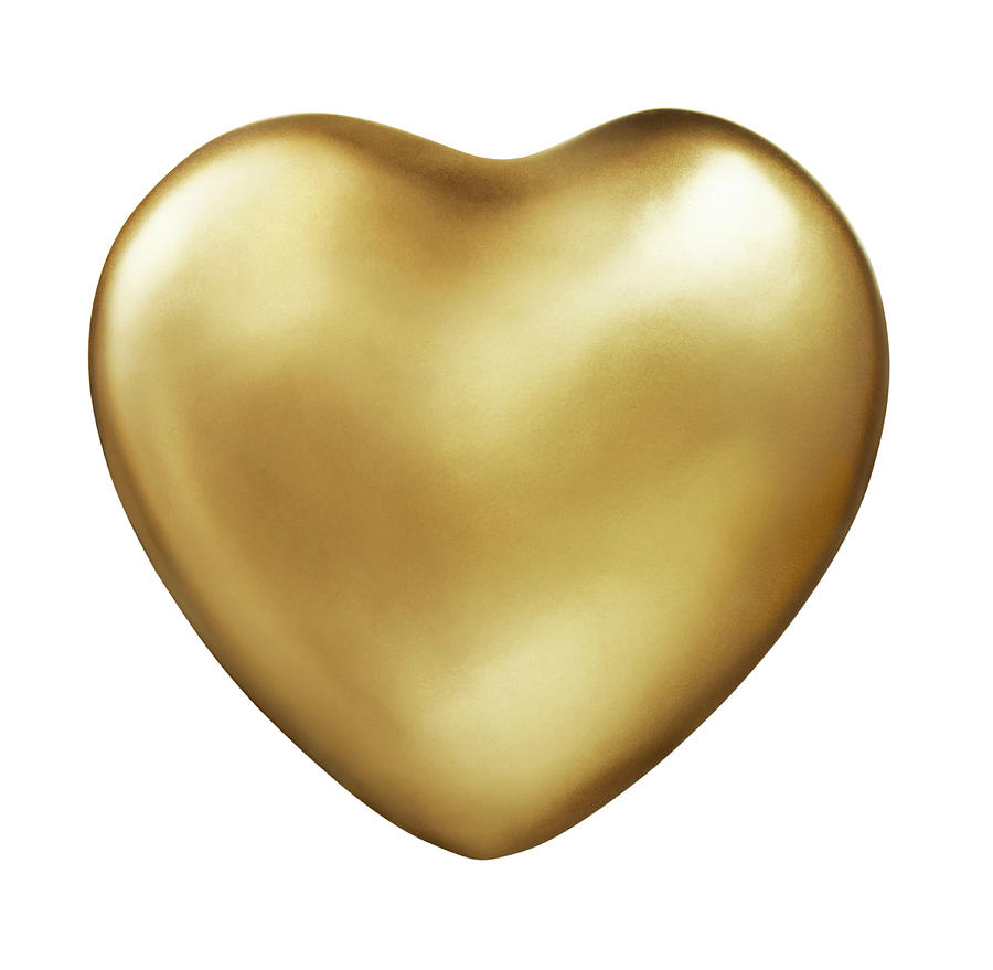 Gold Heart Photograph by Lauren Nicole