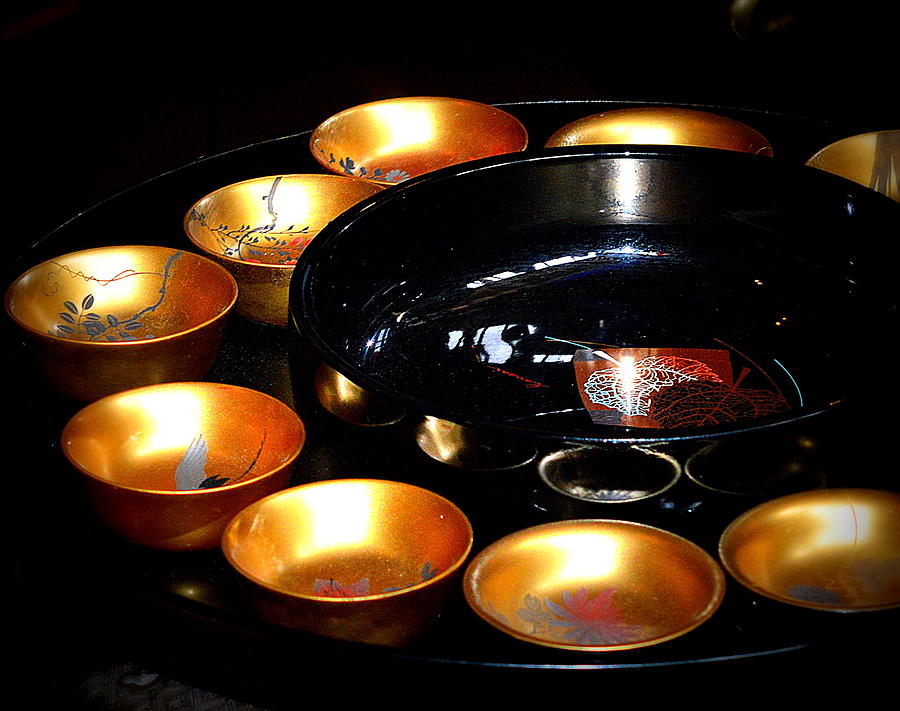 Gold Lacquer Bowls by Kimberly-Ann Talbert