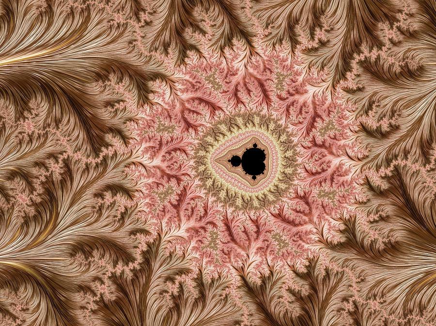 Gold Leaf Mandelbrot Digital Art