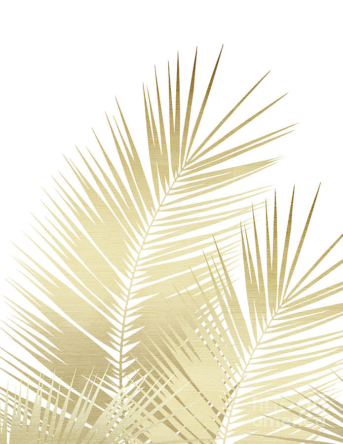 Gold Palm Leaves Dream Cali Summer Vibes 1 Tropical Decor Art Mixed Media By Anitas And Bellas Art Watercolour clip art hand drawn. gold palm leaves dream cali summer vibes 1 tropical decor art by anitas and bellas art